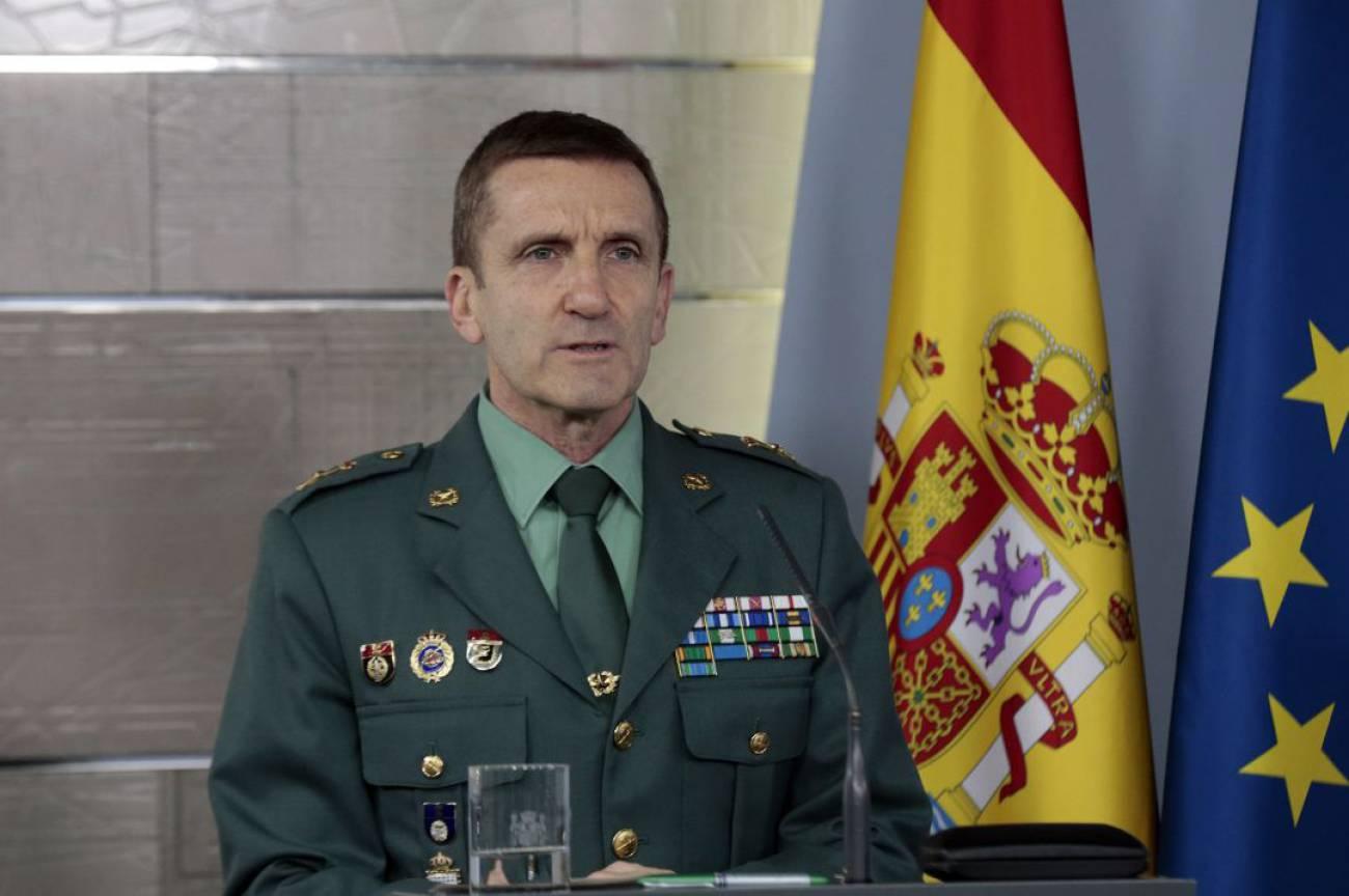 El jefe del Estado Mayor de la Guardia Civil, José Manuel Santiago Marín.
