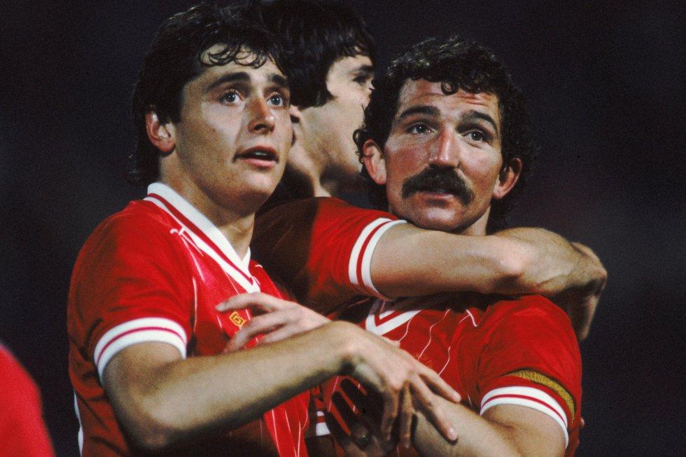 Michael Robinson, Alan Hansen y Graeme Souness en el Liverpool.