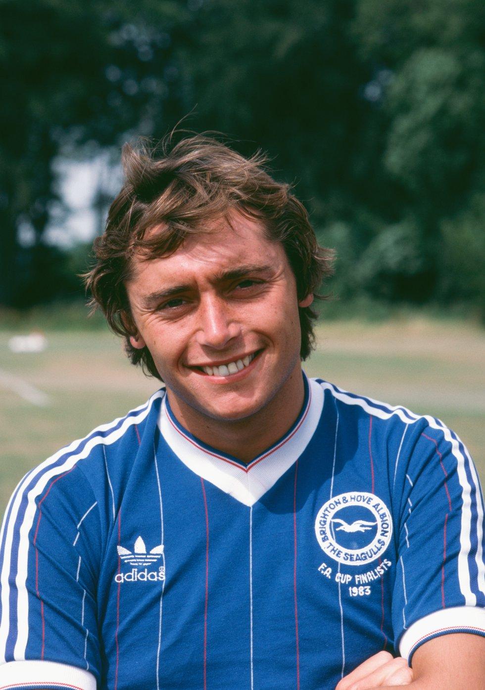 Michael Robinson en 1983, cuando jugaba en el Brighton.