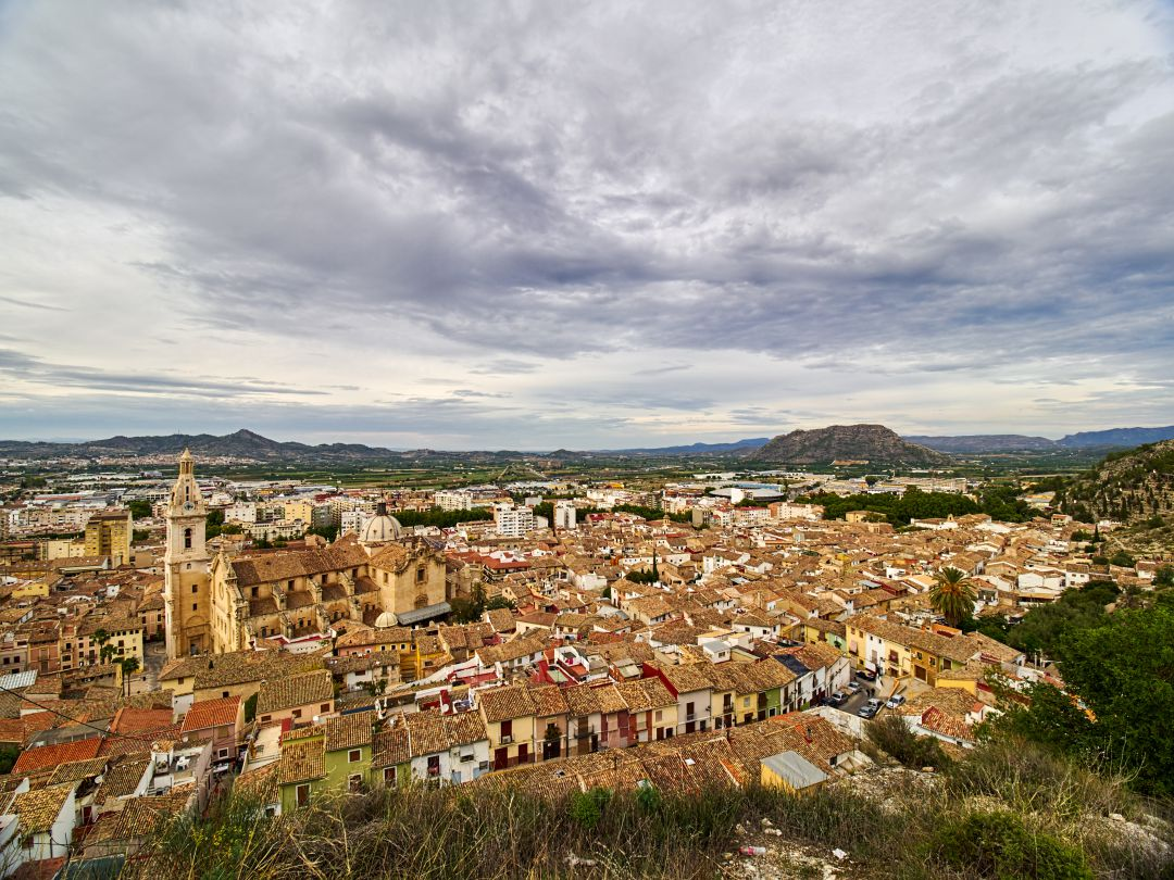 Vista general del casco antiguo de Xàtiva
