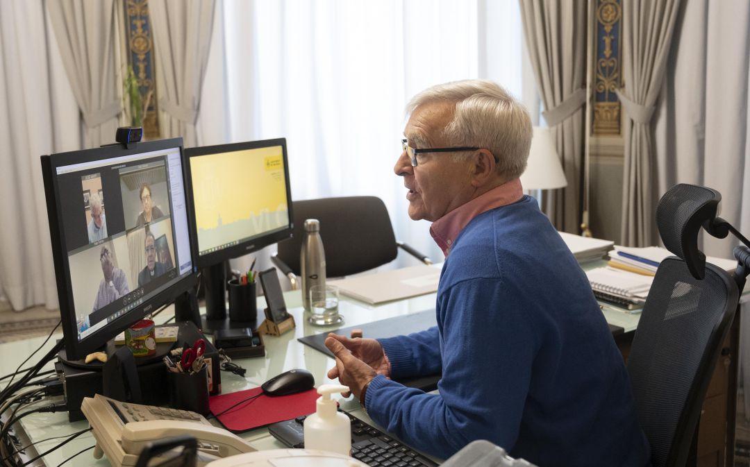 El alcalde Joan Ribó se ha reunido este jueves, por videoconferencia, con representantes de confesiones religiosas con más fieles en la ciudad de València