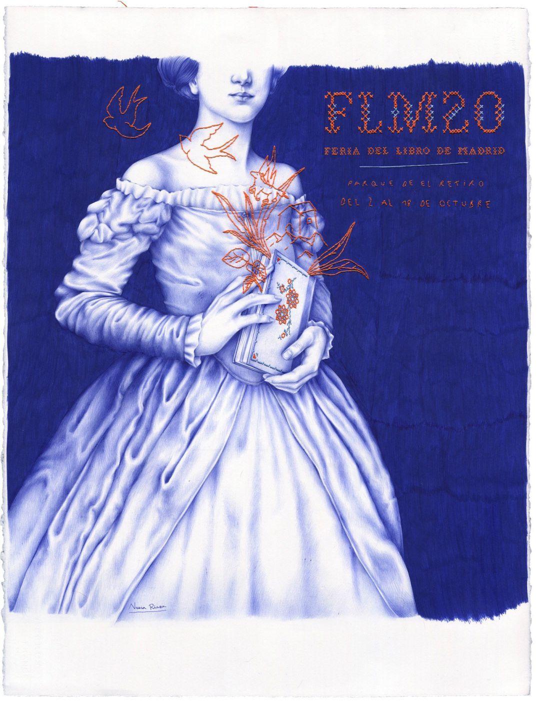 El cartel de la Feria del Libro de Madrid, de Nuria Riaza