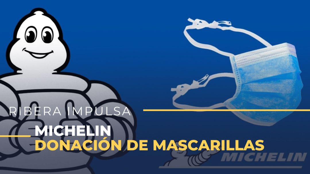 Michelin dona 400.000 mascarillas