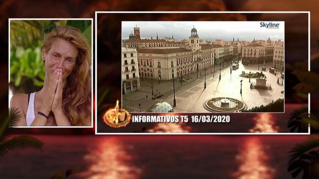 El shock de una concursante de 'Supervivientes' al ver lo que ha pasado en España con el coronavirus