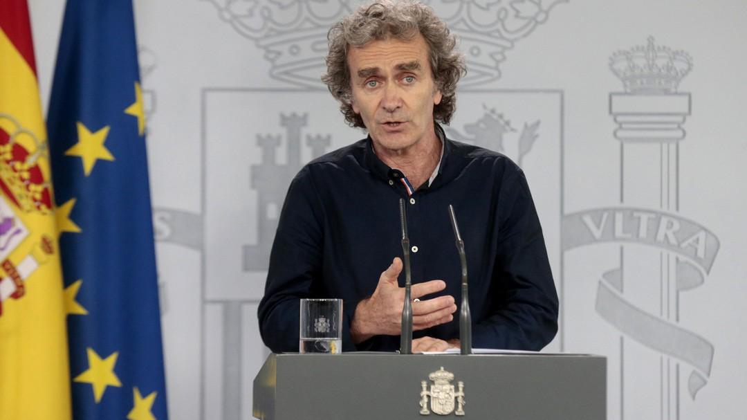 La reacción de Fernando Simón al enterarse en directo del Princesa de Asturias a los sanitarios españoles