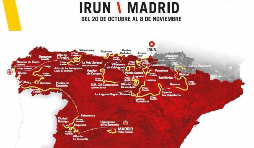 Cartel de la Vuelta a España 2020