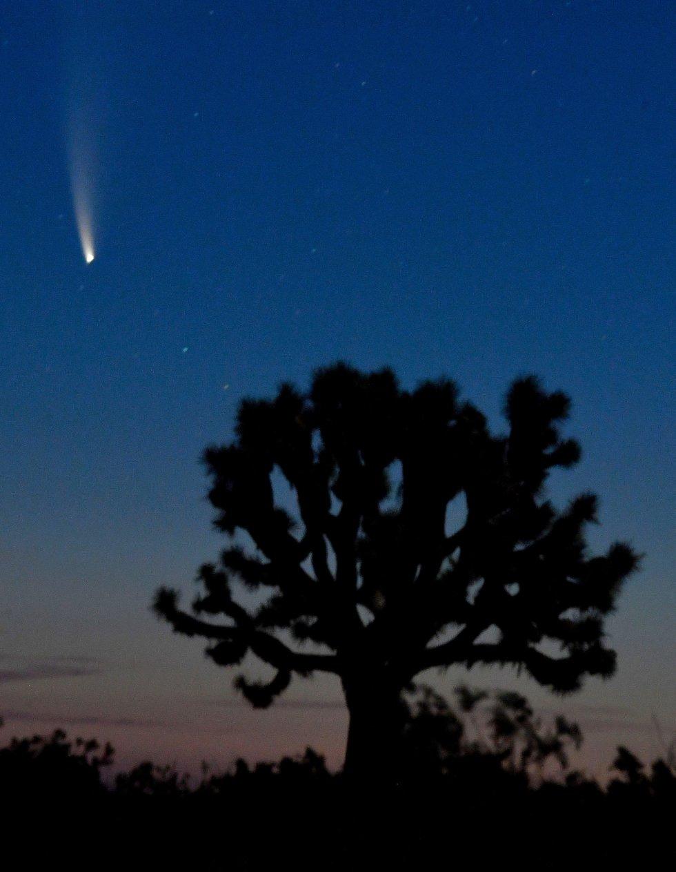 El cometa Neowise, visto desde Adelanto (EEUU).