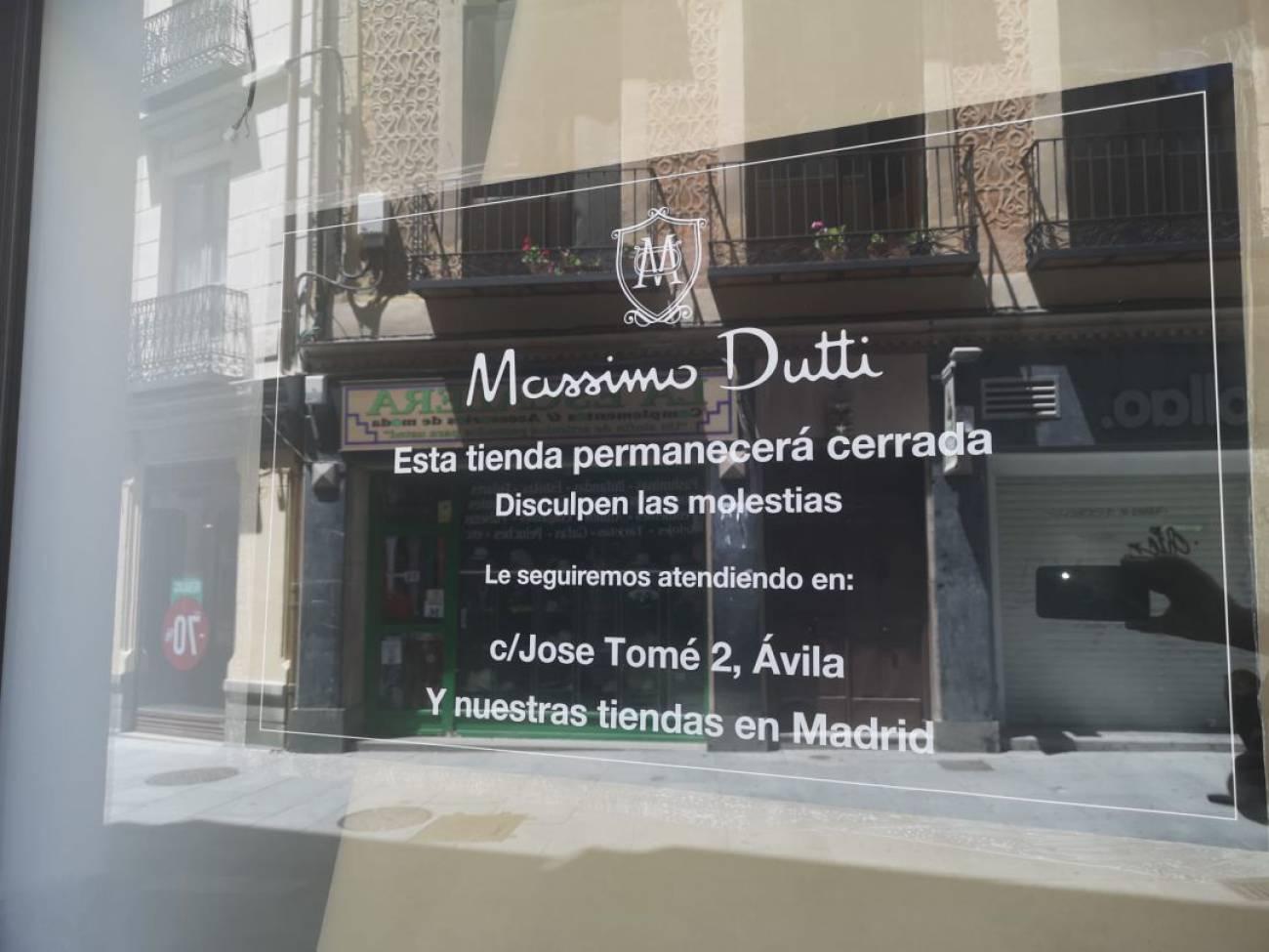 Massimo Dutti Cierra Sus Puertas En Segovia Radio Segovia Actualidad Cadena Ser