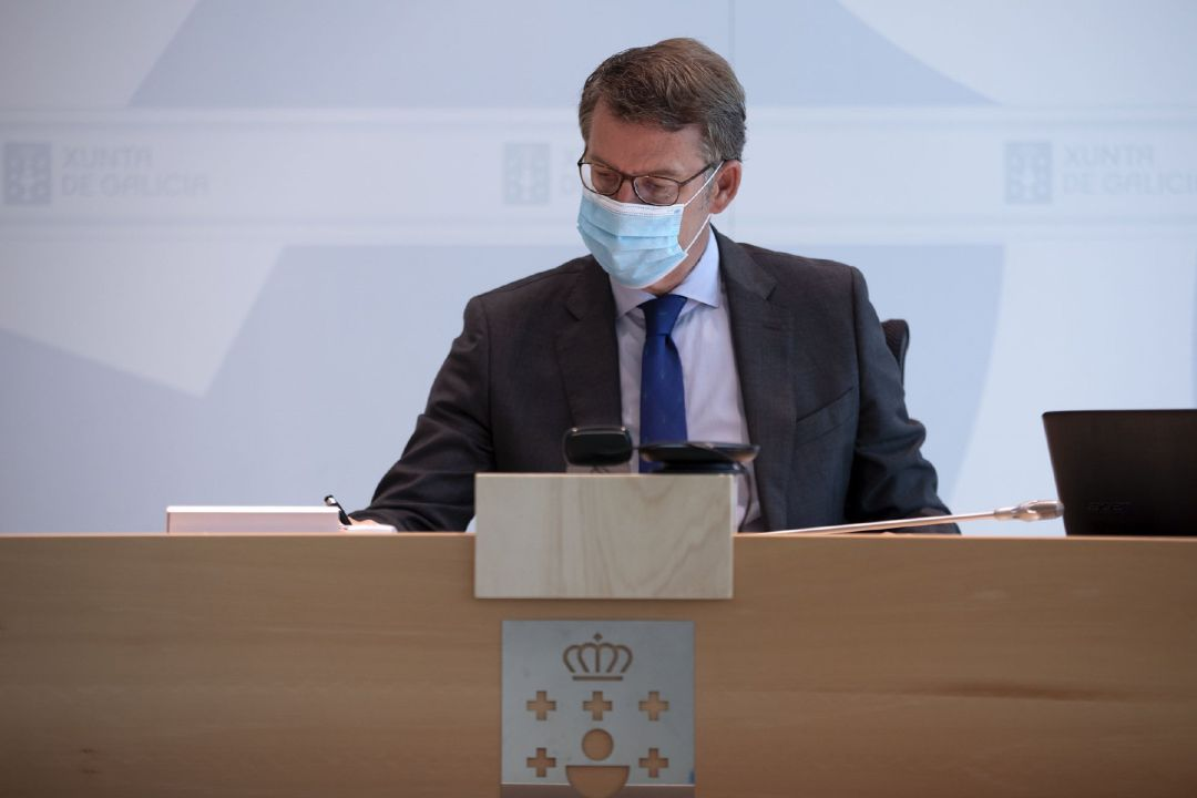 El presidente de la Xunta, Alberto Núñez Feijóo, encabeza la última reunión del Consello en funciones antes de la XI Legislatura que se constituirá el próximo 7 de agosto.
