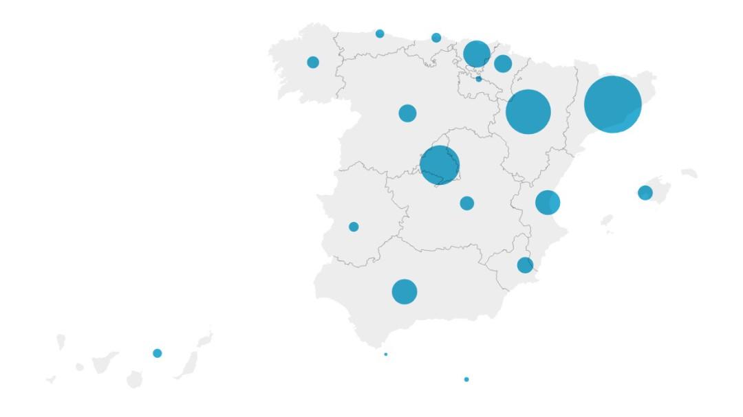 Mapa de rebrotes: los contagios se disparan en Madrid y País Vasco