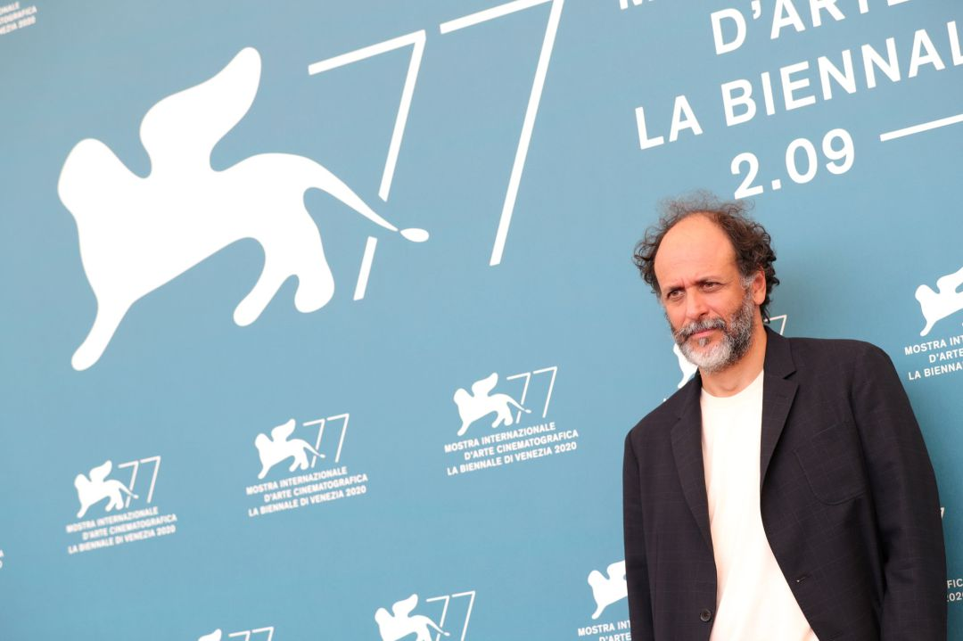 "Director Luca Guadagnino is seen at photocall of ""Salvatore – Shoemaker of Dreams"" on September 06, 2020 in Venice, Italy"