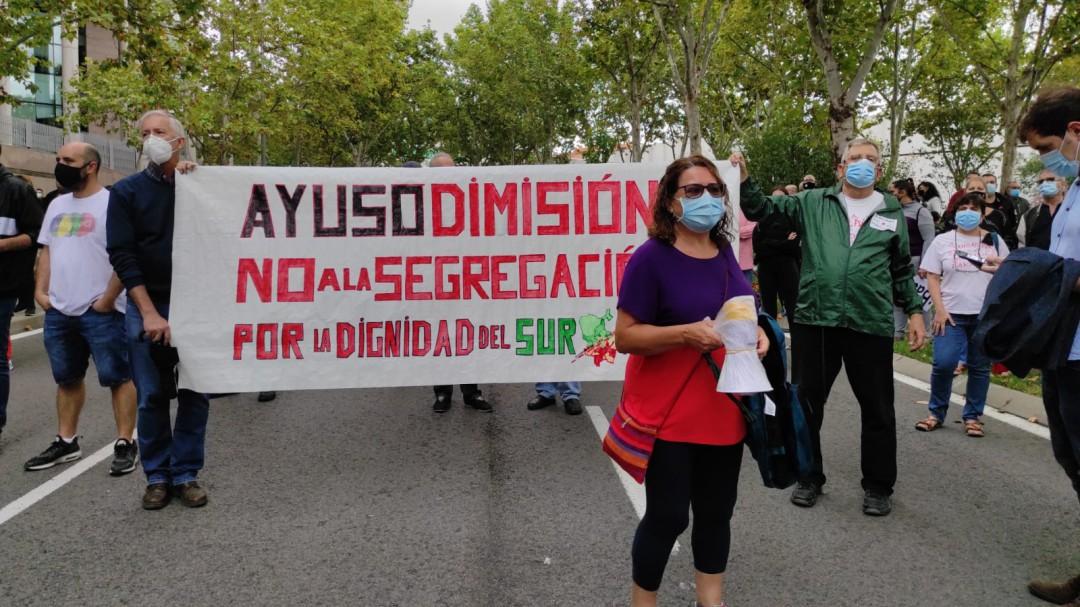 """El sur de Madrid se moviliza contra las restricciones de Ayuso: """"No es confinamiento, es segregación"""""""
