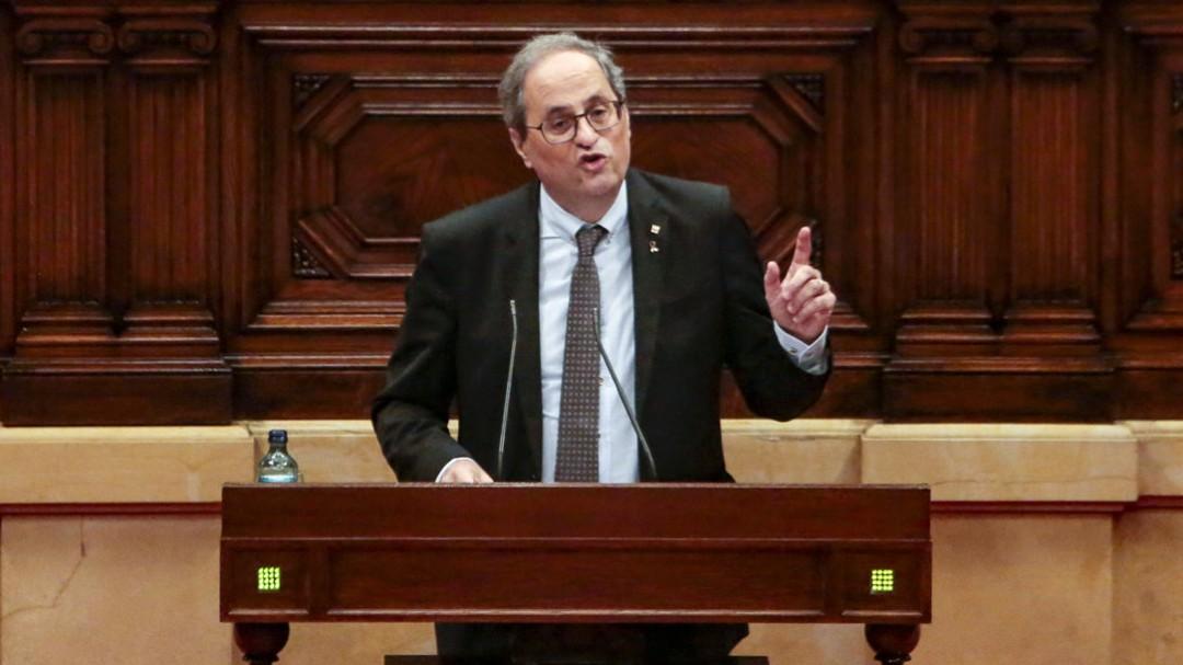 """Quim Torra: """"O monarquía española o república catalana"""""""