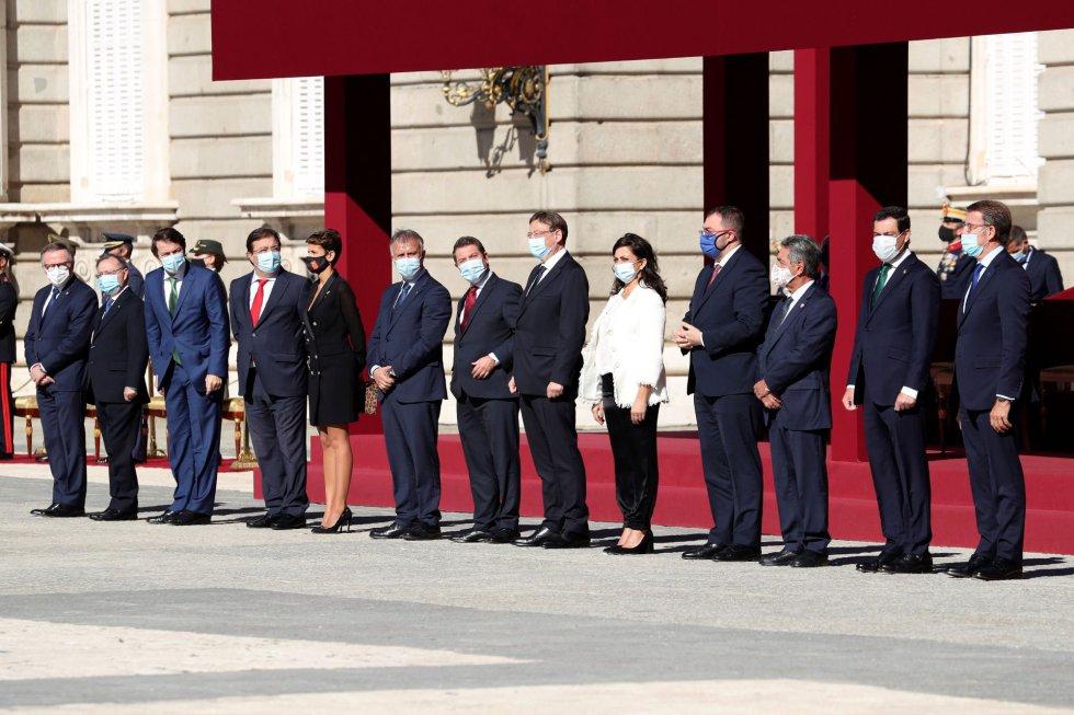 Los presidentes autonómicos durante el acto