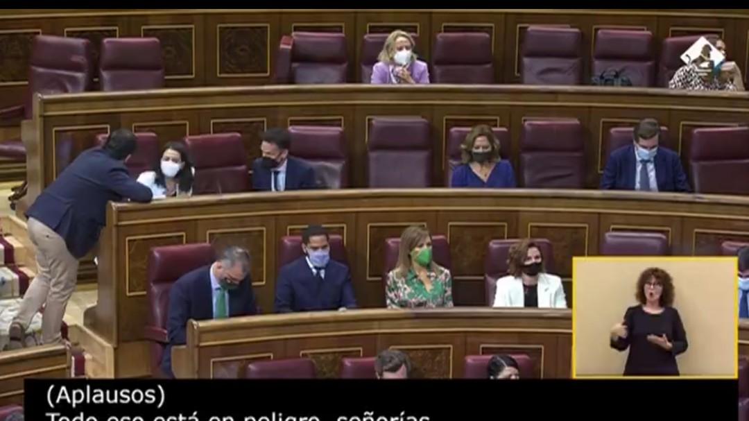 """""""Negligente, criminal y ansioso por pisotear una palabra"""": el discurso de Vox para echar a Pedro Sánchez"""