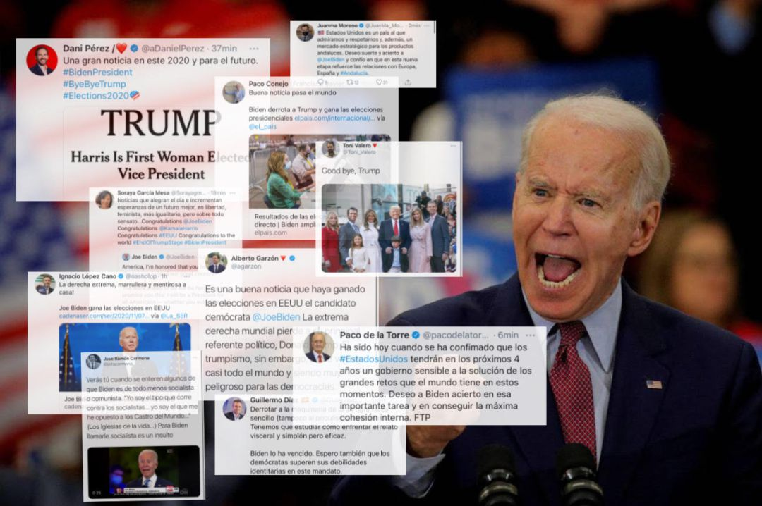 Resultado de imagen para Reacciones en todo Estados Unidos después de que Biden ganara