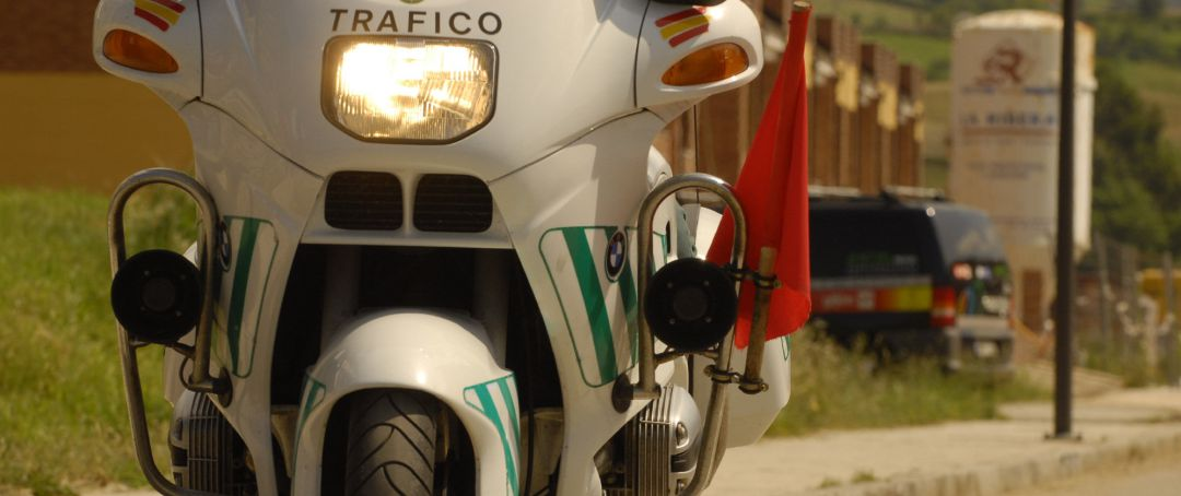 Moto de la Guardia Civil de Tráfico