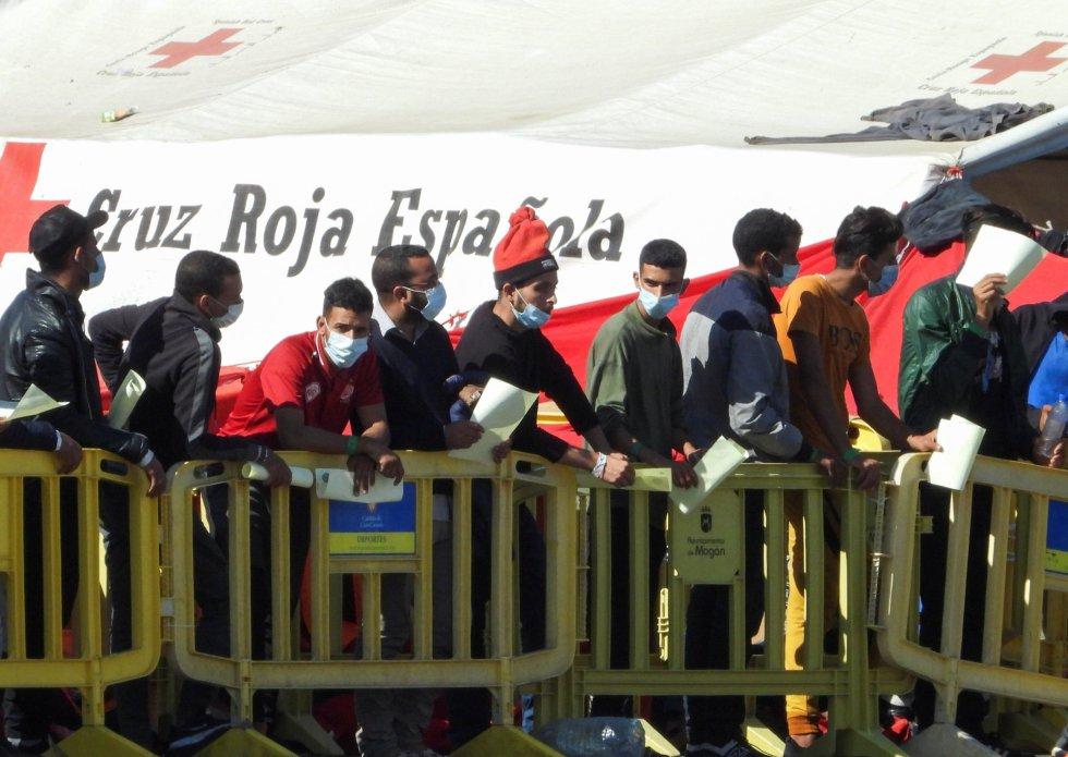 Crisis migratoria en el muelle de Arguineguín