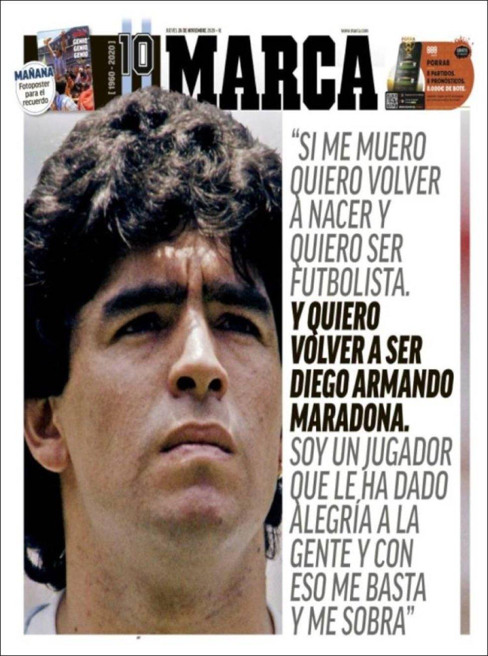 El diario deportivo 'Marca' recuerda una frase célebre del futbolista