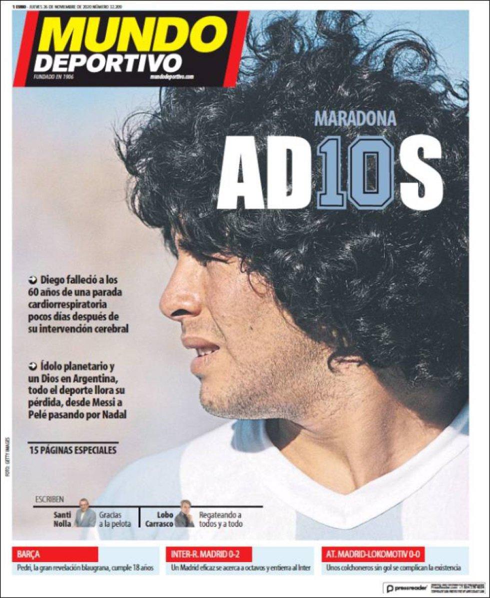 'Maradona AD10S', titula 'Mundo Deportivo'