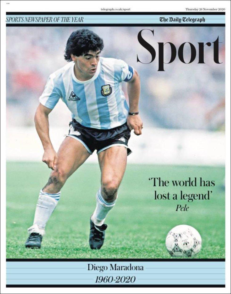 """La edición deportiva de 'Daily Telegraph' titula con una frase de Pelé: """"El mundo ha perdido una leyenda"""""""