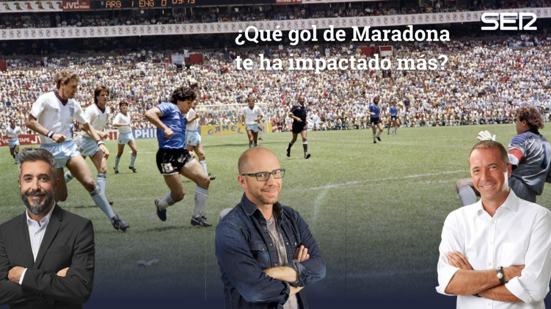 """""""Lo marcó tras meterse entre tres defensas"""": las voces de la SER escogen el mejor gol de Maradona"""
