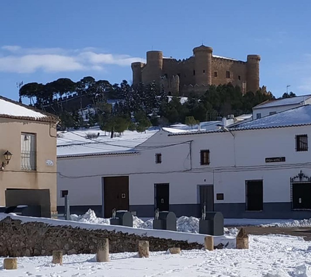 El castillo, nevado