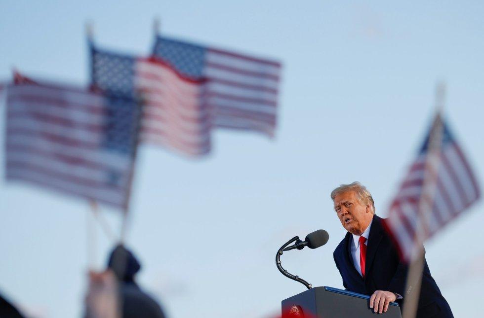 El último discurso de Donald Trump, desde la base Andrews.
