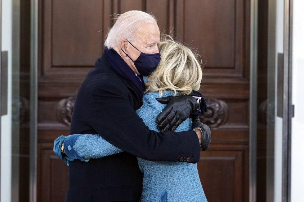 Joe Biden y su esposa, en la Casa Blanca.