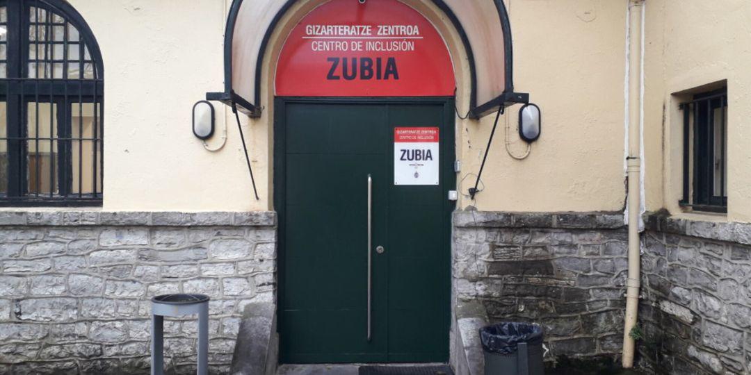 Entrada al Centro Zubia en el Antiguo Hospital.