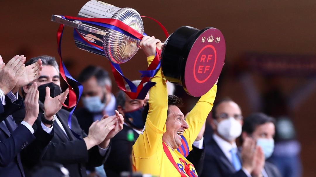Goleada y exhibición de Messi para hacer al Barça aún más rey de Copas