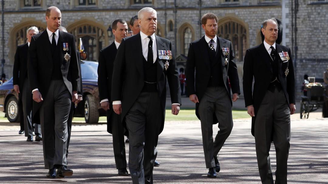 La familia real británica despide al duque de Edimburgo con un funeral en el Palacio de Windsor