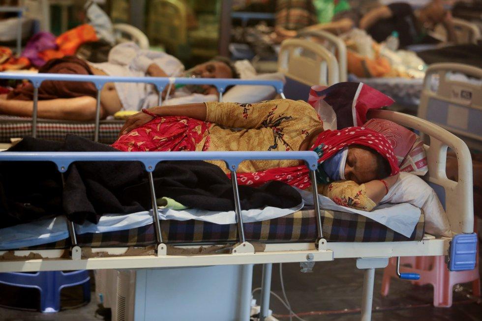 Un hotel, convertido en hospital de emergencia por la crisis de la COVID.