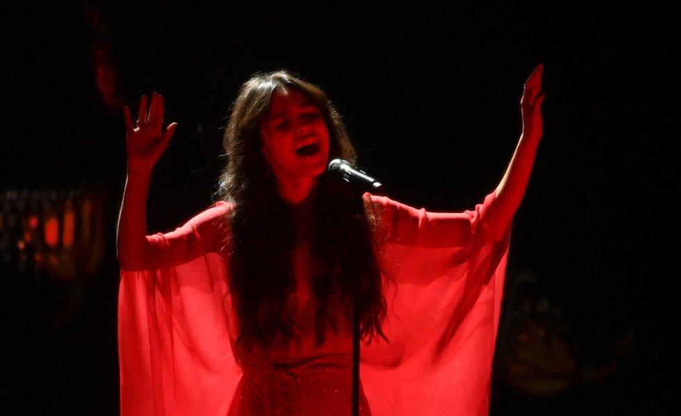 Olivia Rodrigo, durante su actuación.
