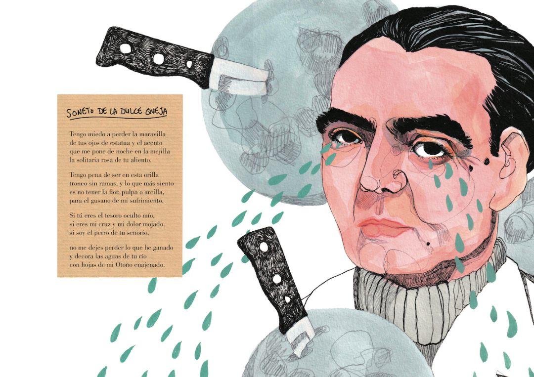 Imagen de 'Federico', la biografía ilustrada de Federico García Lorca por Ilu Ros