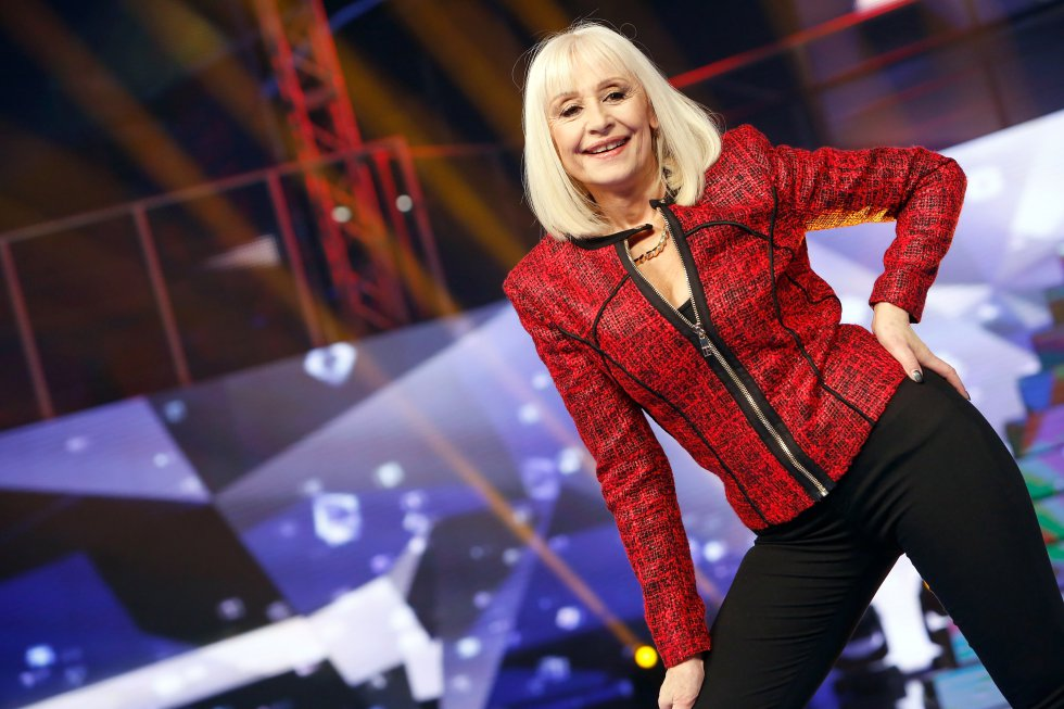 Raffaella Carrá en el show de televisión 'Forte Forte Forte' en 2015.
