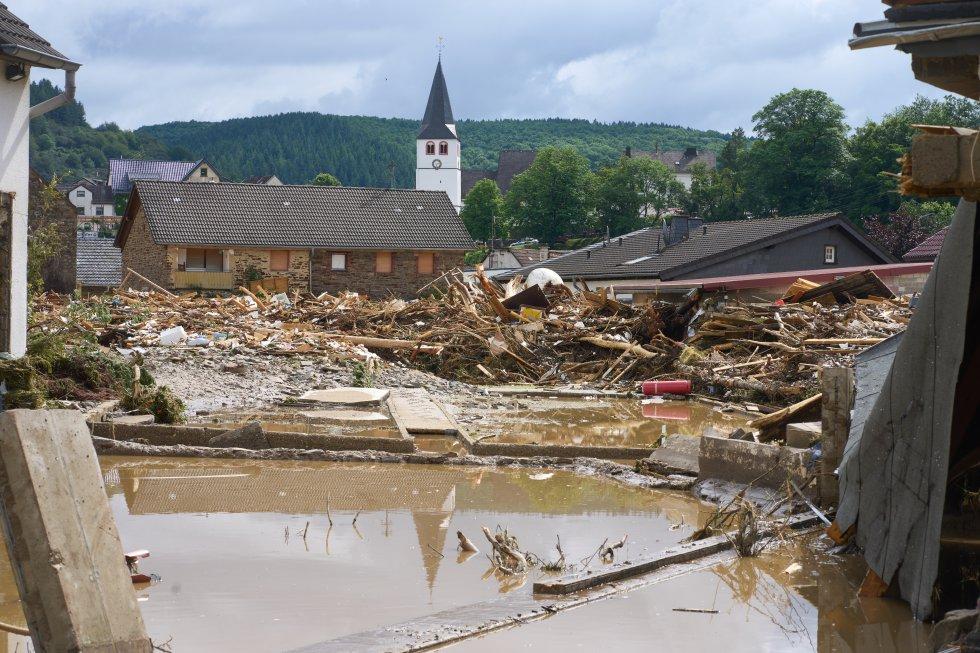 Escombros cerca de la zona centro de Debris