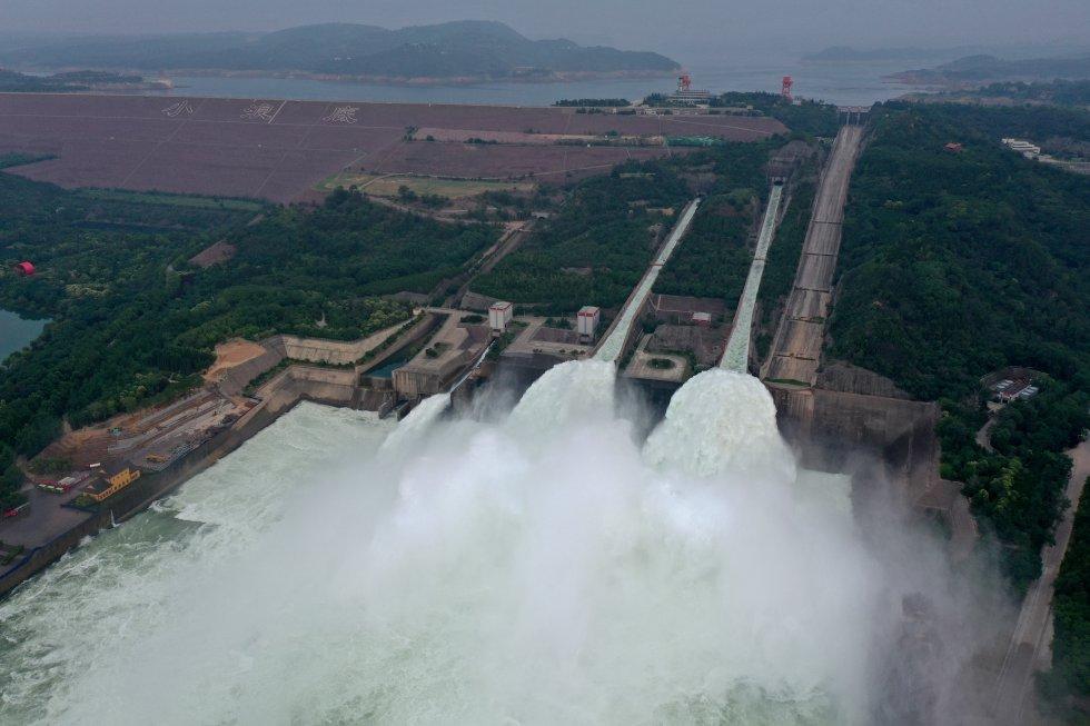 Estado de la presa de Xiaolangdi, en el río Amarillo.