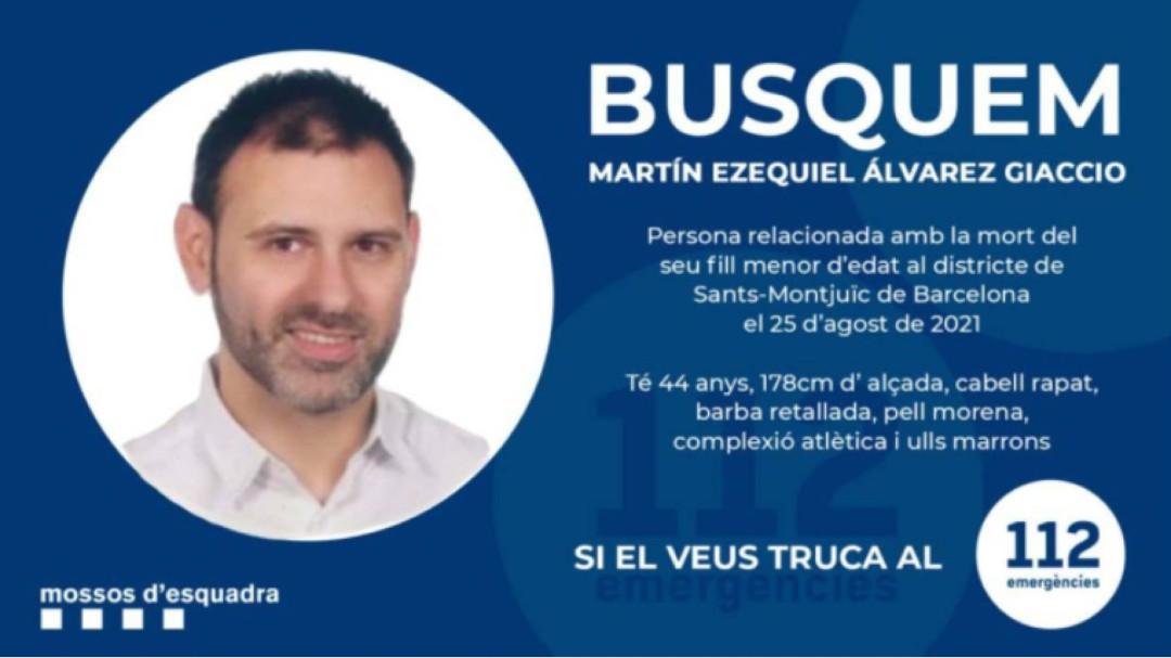 Hallan el cadáver de Martín Ezequiel, el hombre buscado por matar a su hijo en un hotel de Barcelona